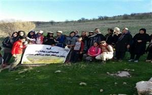 همایش کوهپیمایی بانوان چرداول در دامنه کوه لنه (سرابله) برگزارشد