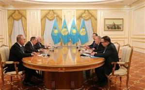 رایزنی وزیران امور خارجه ایران، روسیه و ترکیه با رییسجمهور قزاقستان +تصویر