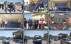 مانور سفر های نوروزی پلیس و دستگاه های  خدمات رسان و امدادی در یزد برگزارشد