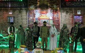 ازدواج چهار زوج جوان مازندرانی پای سفره عقد شهدایی