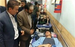 دانش آموزان بروجردی اعزامی به مسابقات فرهنگی هنری لرستان دچار سانحه رانندگی شدند