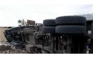 واژگونی تانکر حامل گاز مایع در مسیر سقز- دیواندره یک کشته بجا گذاشت